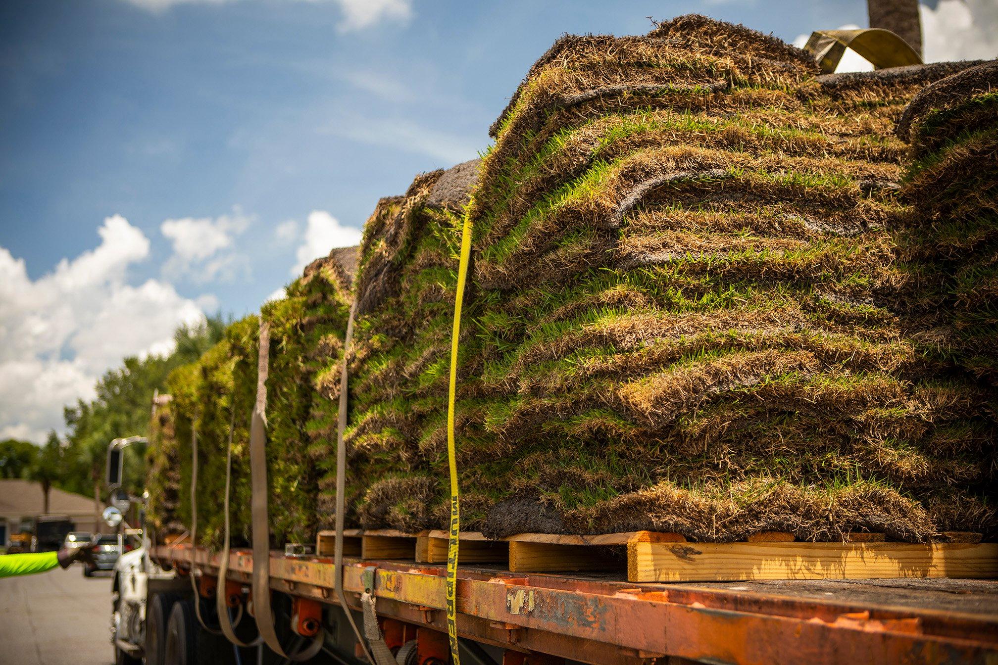 sod being delivered