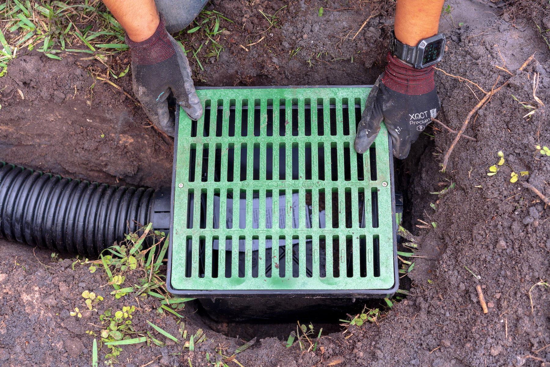 Catch basin installation