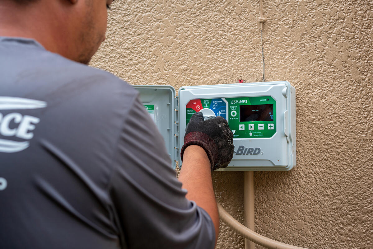 irrigation contractor programming system controller