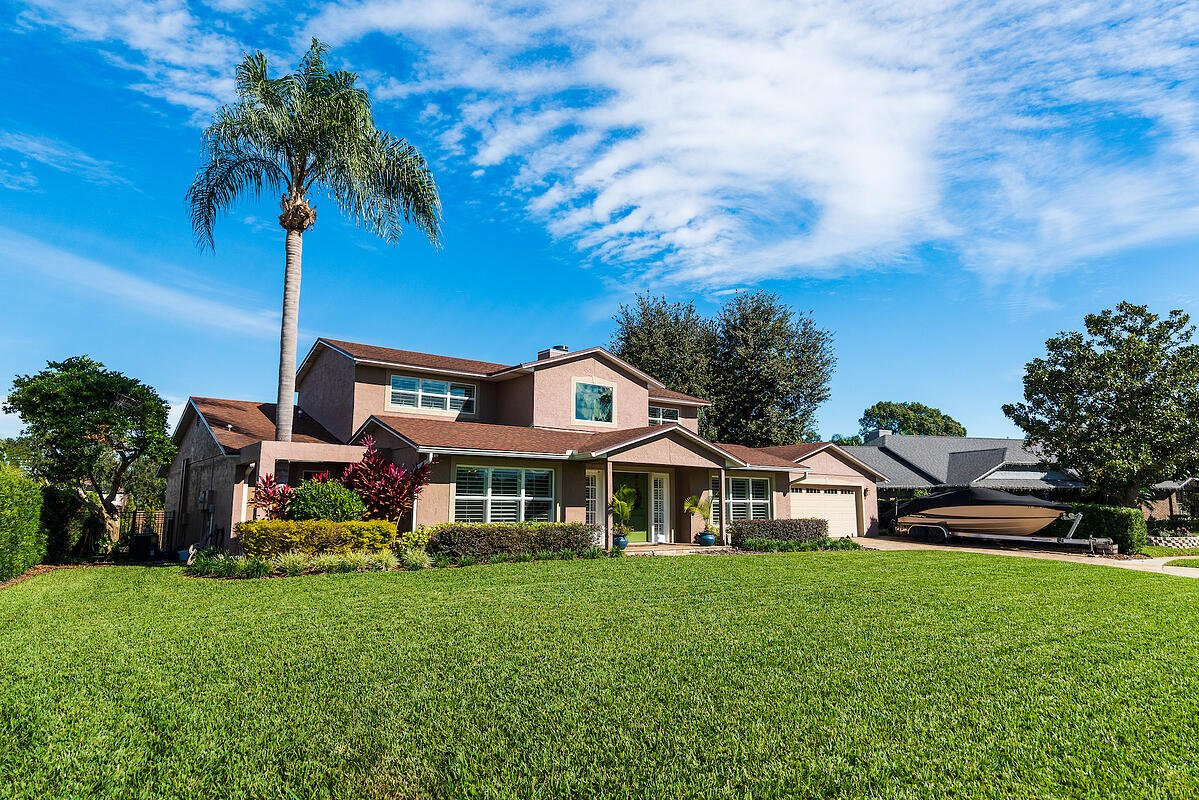 new sod in front of Florida home