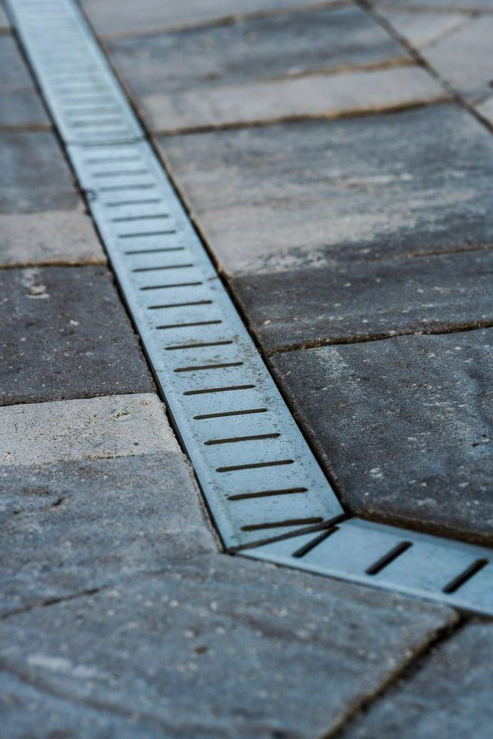 paver patio drainage