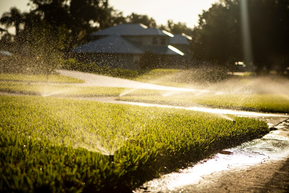 Grass irrigation in Orlando Florida
