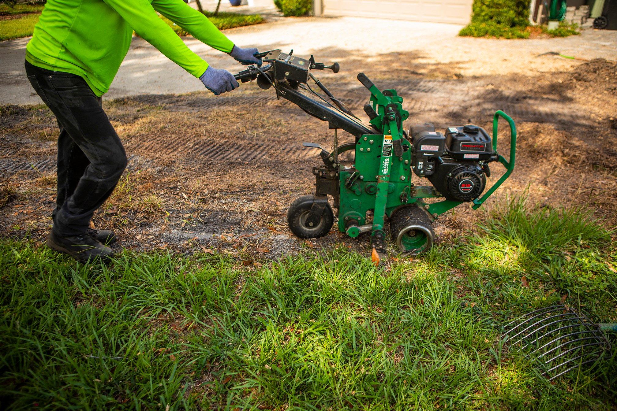 lawn team skid steer dead lawn sod remover