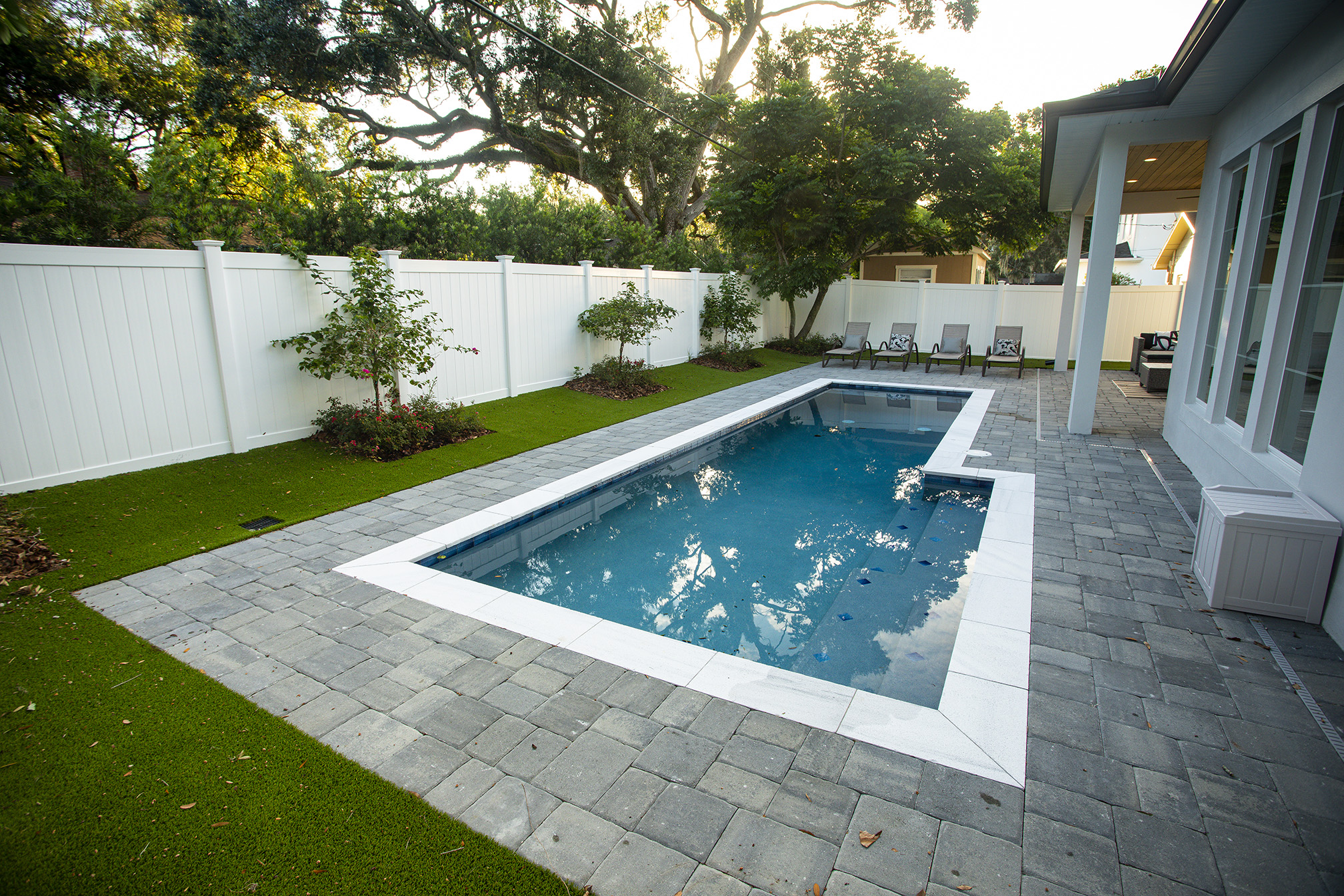 Pool with paver patio