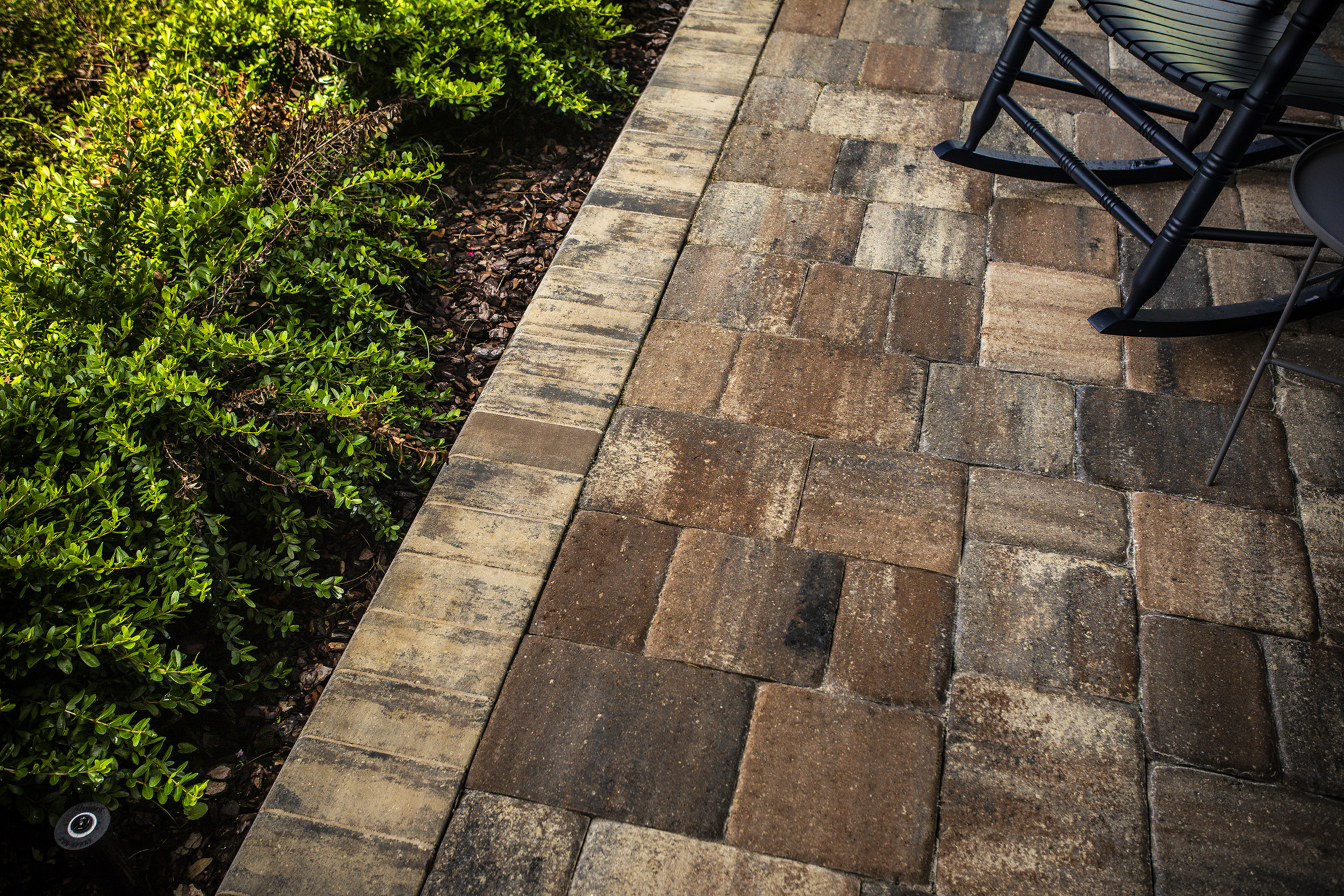 patio pavers near plantings