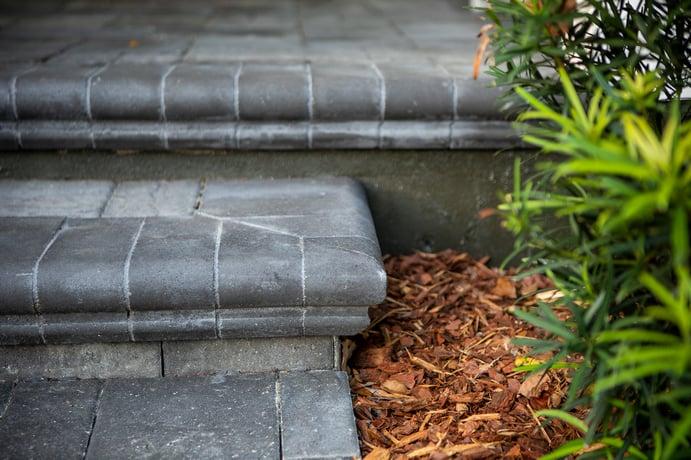 plantings paver steps walkway 20