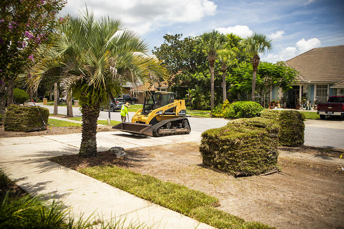 Ground Source installing sod in Orlando, FL