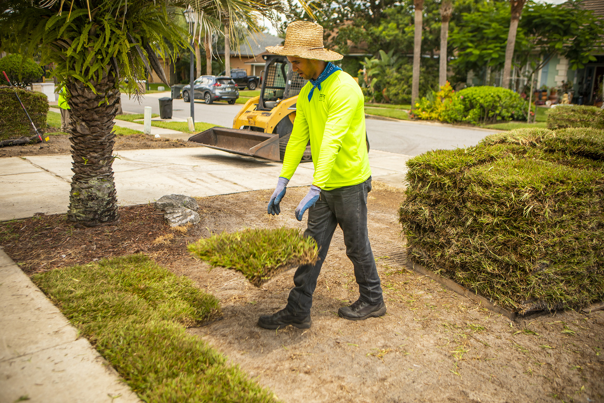 Sod being installed in Orlando, FL