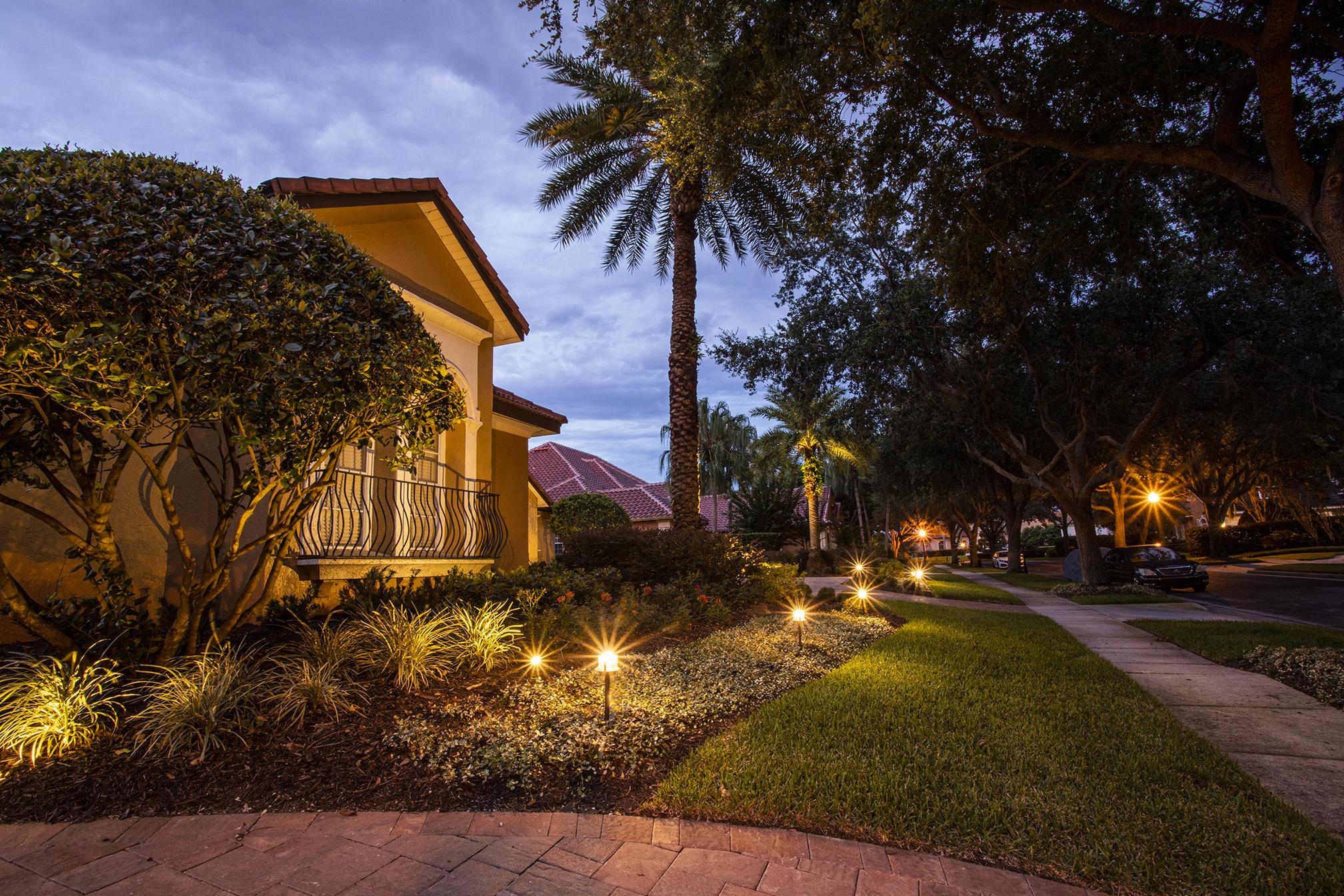 Patio landscape lighting in Orlando, FL