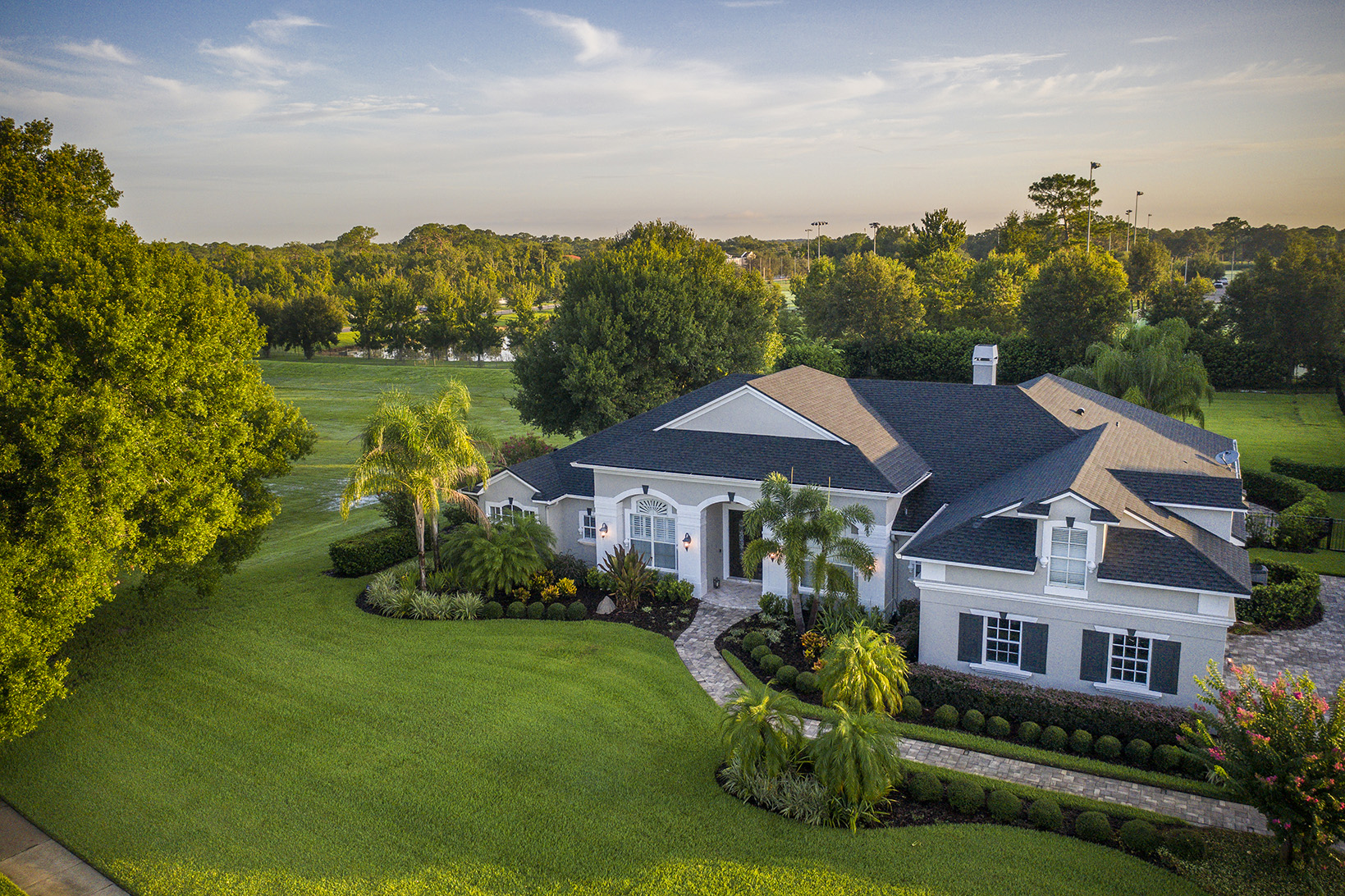 Landscape redesign at Windermere, Florida home