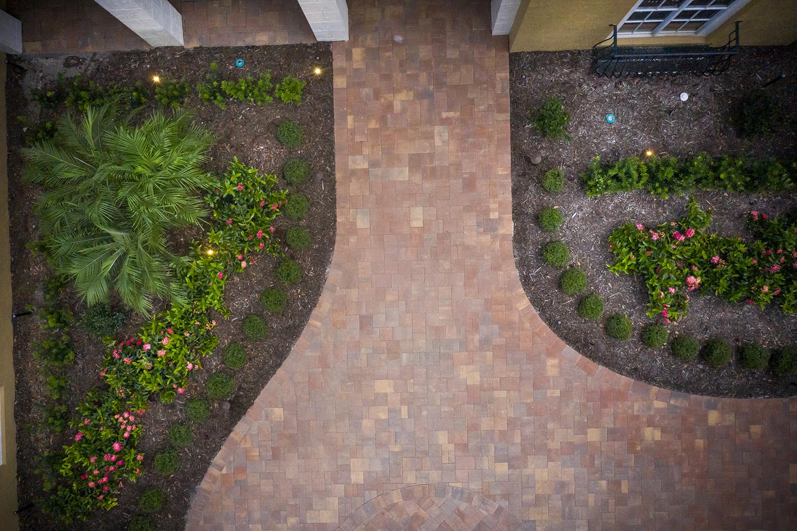 plantings paver aerial