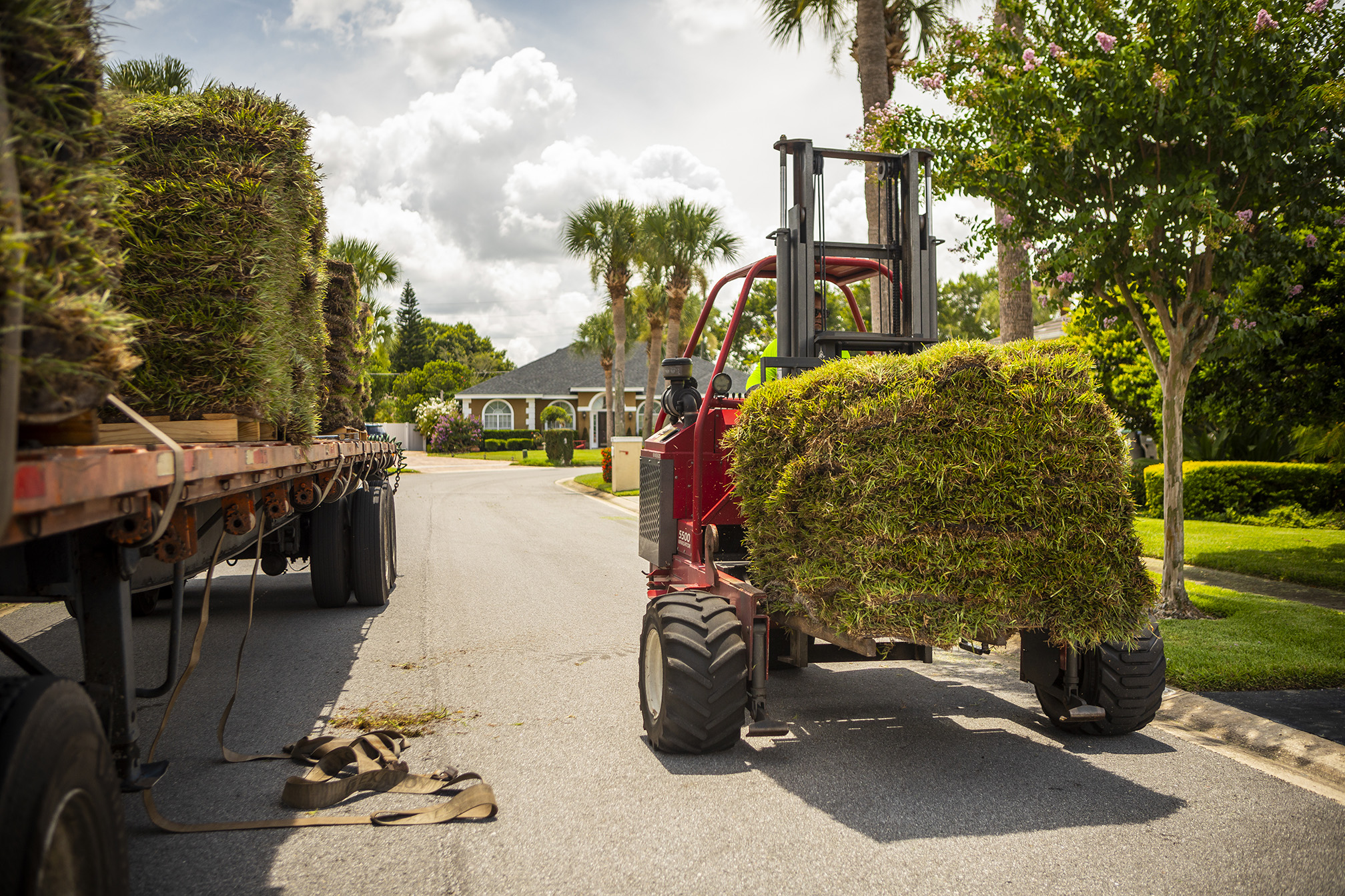 Sod installation company delivering sod in Orlando
